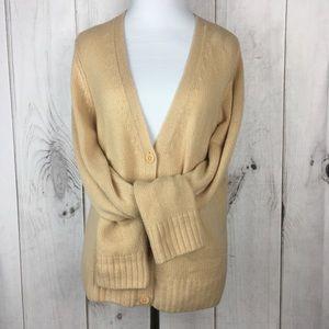 Sweaters - 100% Cashmere Deep V Long Sleeve Cardigan
